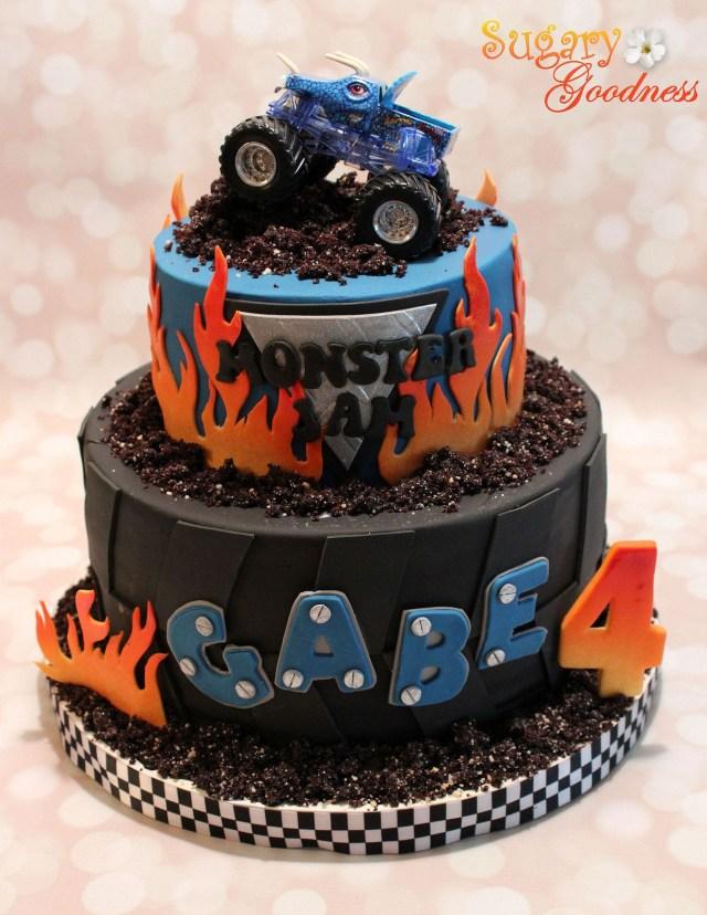 Monster Truck Birthday Cake Monster Jam Cake Transportation Cake Monster Jam Cake Monster