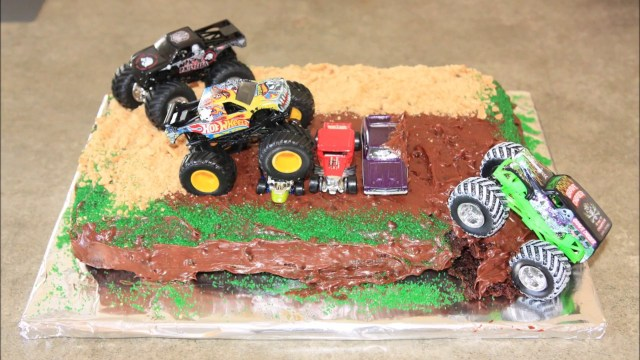 Monster Truck Birthday Cake Monster Truck Birthday Cake Youtube
