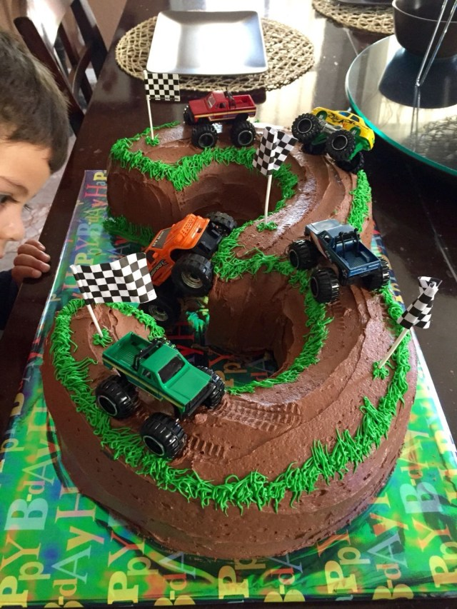 Monster Truck Birthday Cake Monster Truck Cake 3 Years Old Monstertrucks Blaze Bday Monster