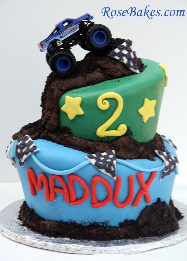 Monster Truck Birthday Cake Monster Truck Cake My First Wonky Cake