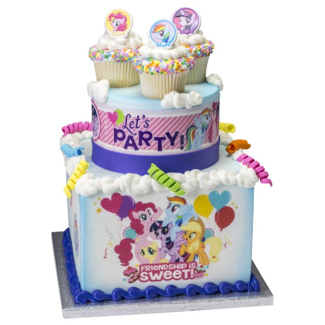 My Little Pony Birthday Cake Ideas My Little Pony Sweet Friendship Stacked Cake Decopac