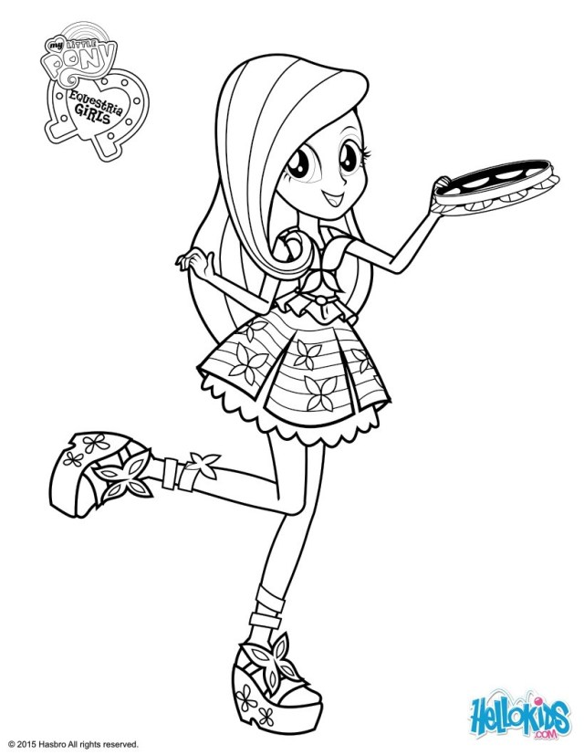 My Little Pony Equestria Girl Coloring Pages Fluttershy Coloring Pages Hellokids