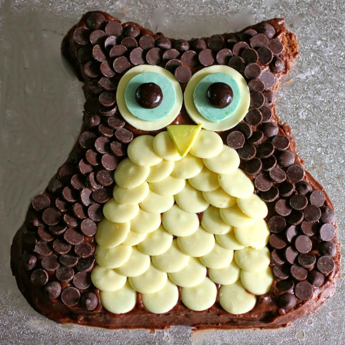 Owl Birthday Cake Green Gourmet Giraffe Owl Birthday Cake