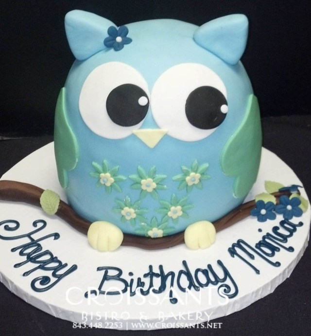 Owl Birthday Cakes Owl Birthday Cake Croissants Myrtle Beach Bistro Bakery