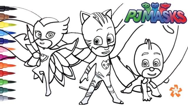 Owlette Coloring Page Pj Masks Gekko Catboy And Owlette Coloring Pages For Children