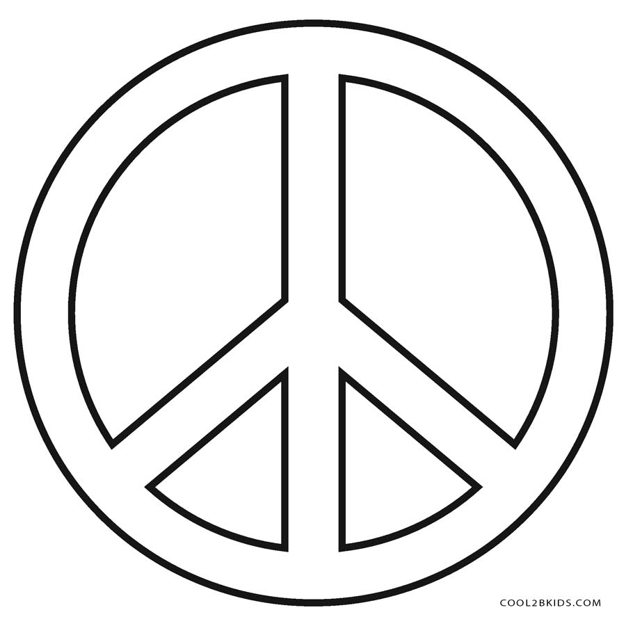 Peace Coloring Pages Free Printable Peace Sign Coloring Pages