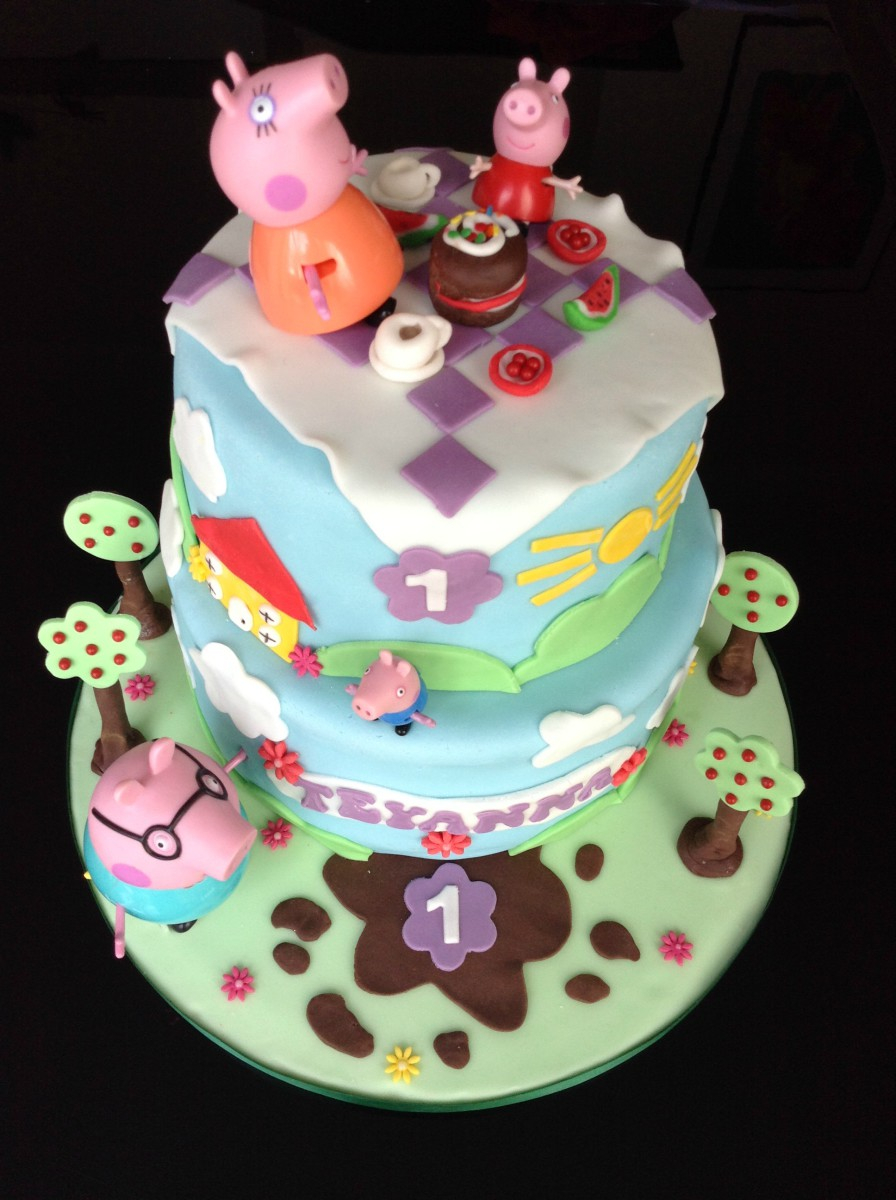 Peppa Pig Birthday Cake Peppa Pig Birthday Cake Hobcraft Blog