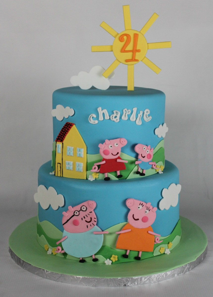 Peppa Pig Birthday Cake Peppa Pig Birthday Cake Lil Miss Cakes