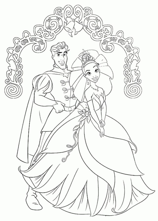 Princess And The Frog Coloring Pages Princess And Frog Coloring Pages Coloring Pages For Children