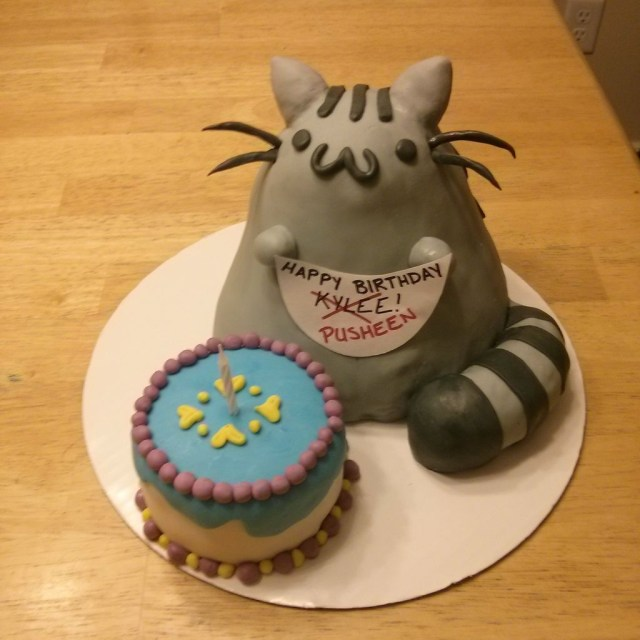 Pusheen Birthday Cake Pusheen Cat Cake 9 Steps With Pictures