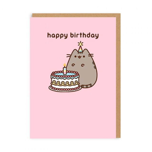 Pusheen Birthday Cake Pusheen Happy Birthday Cake Greeting Card Ohh Deer