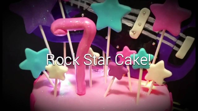 Rock Star Birthday Cake Flashing Guitar Rockstar Birthday Cake Youtube