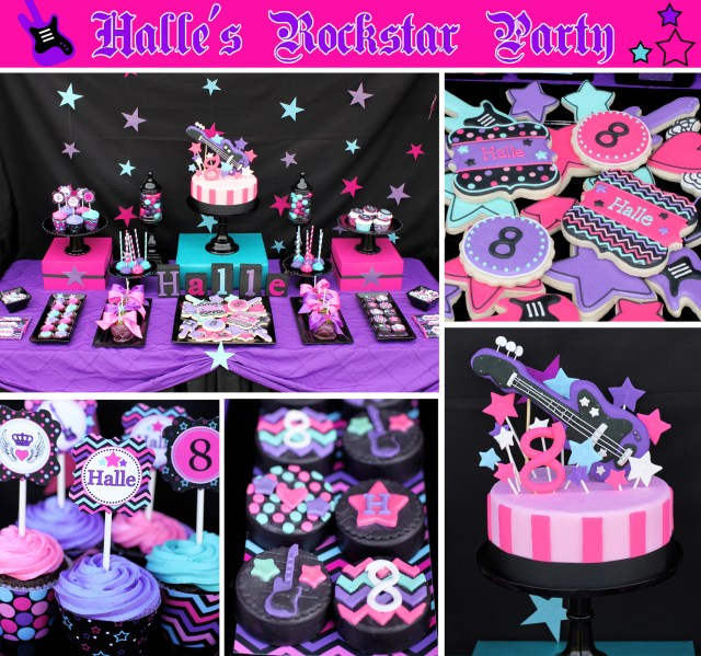 Rock Star Birthday Cake Halles 8th Rockstar Birthday