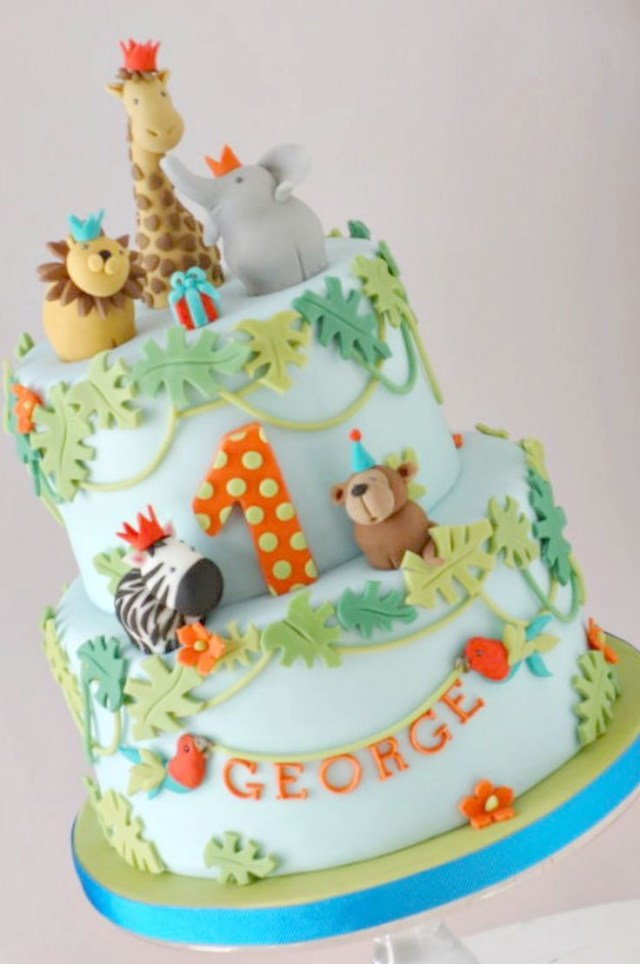 Safari Birthday Cake Jungle Safari Cake Sugarcraft Pinte