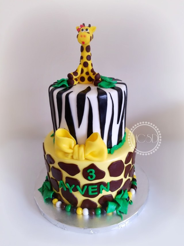 Safari Birthday Cake Mycakesweetdreams Jungle Safari Birthday Cake