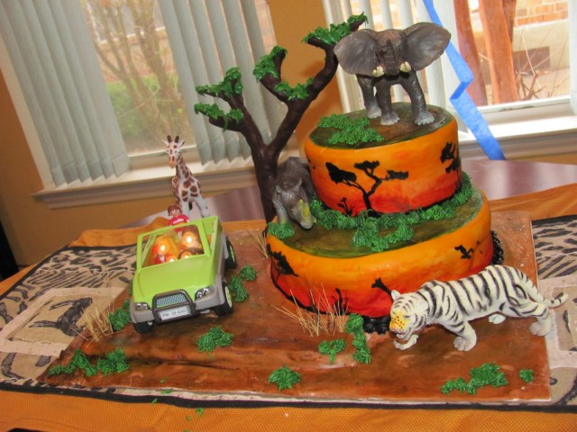 Safari Birthday Cake Safari Cakes Decoration Ideas Little Birthday Cakes