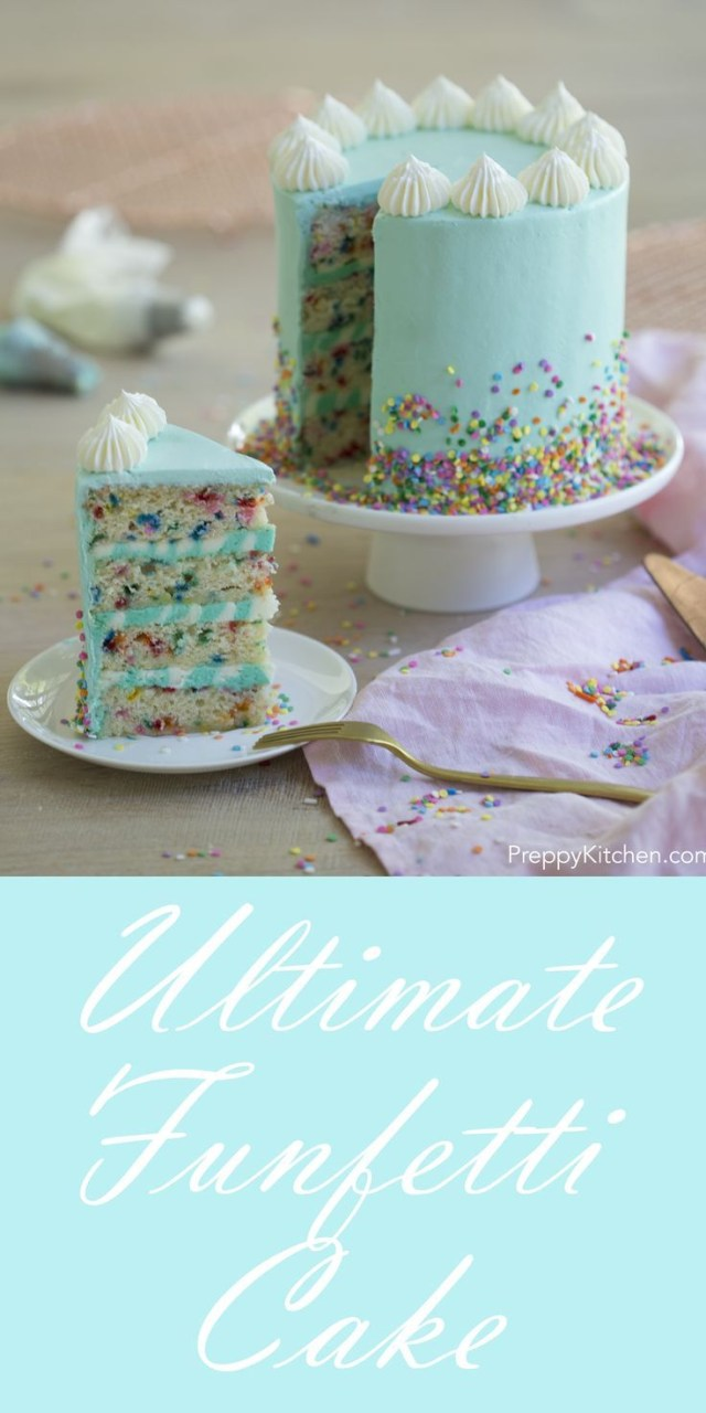 Small Birthday Cakes Funfetti Cake Recipe Cakes Pinterest Cake Birthdays And Recipes