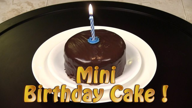 Small Birthday Cakes How To Make A Mini Chocolate Birthday Cake Youtube