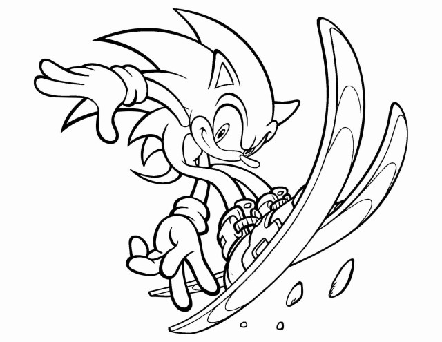 Sonic Coloring Page Sonic Coloring Pages Games At Getdrawings Free For Personal