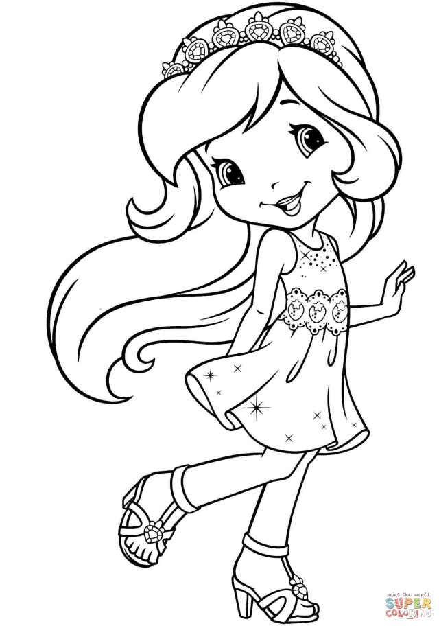 Strawberry Shortcake Coloring Pages Spectacular Strawberry Shortcake Princess Coloring Pages 93 For Your