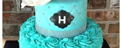 Teal Birthday Cakes Teal Blue Sweet 16th Birthday Cake Max Amor Cakes Sweet