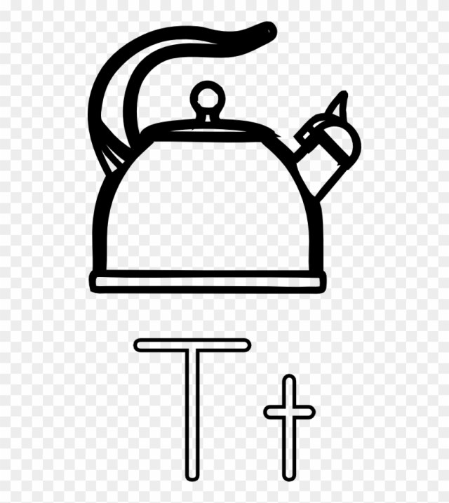 Teapot Coloring Page T Is For Teapot Kettle Coloring Page Free Transparent Png