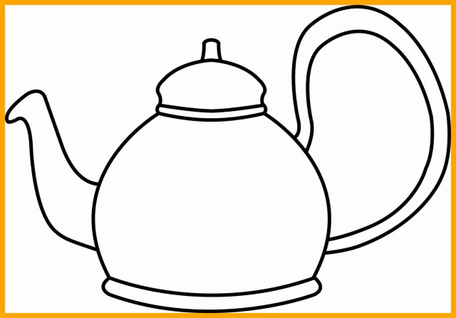 Teapot Coloring Page Teapot Coloring Page How To Draw And Game Within Saglik