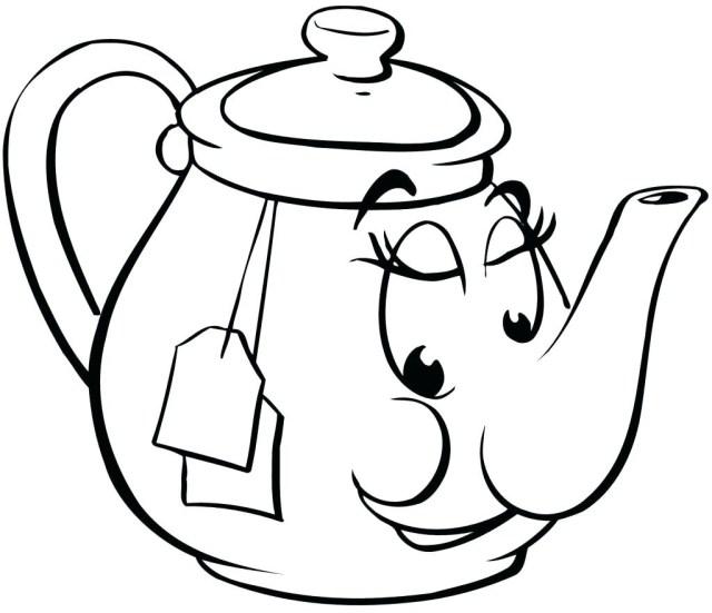 Teapot Coloring Page Teapot Coloring Page Tipbackco