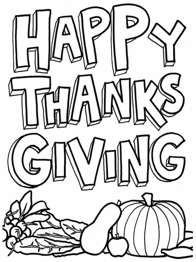 Thanksgiving Color Pages Free Thanksgiving Color Pages Ironenclave