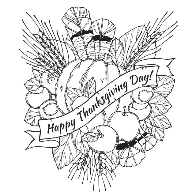 Thanksgiving Color Pages Happy Thanksgiving Thanksgiving Adult Coloring Pages