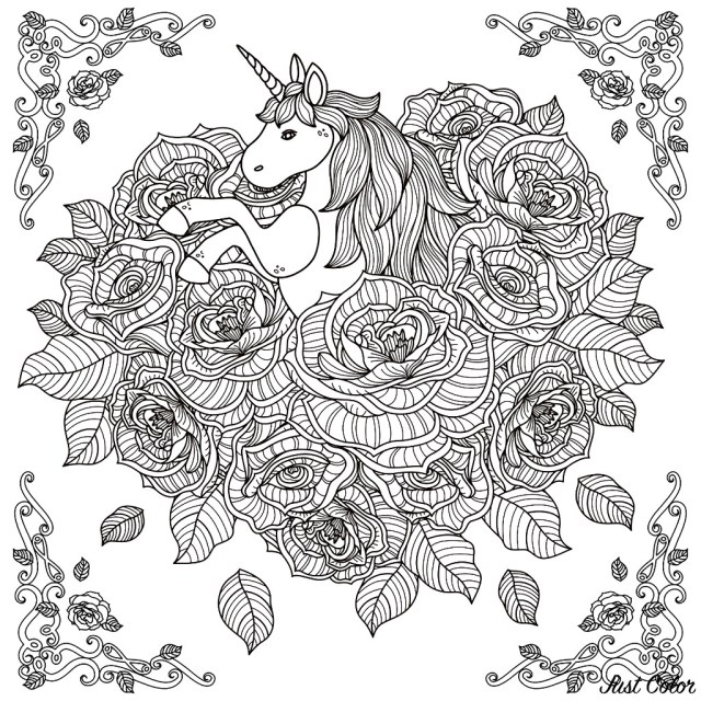 Unicorn Coloring Pages For Adults Unicorn Mandala Unicorns Adult Coloring Pages