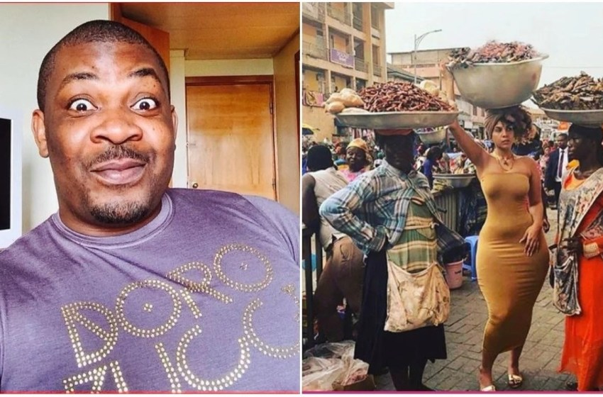Don Jazzy says he would like to go to the market after spotting photo of curvy lady hawking dried fish