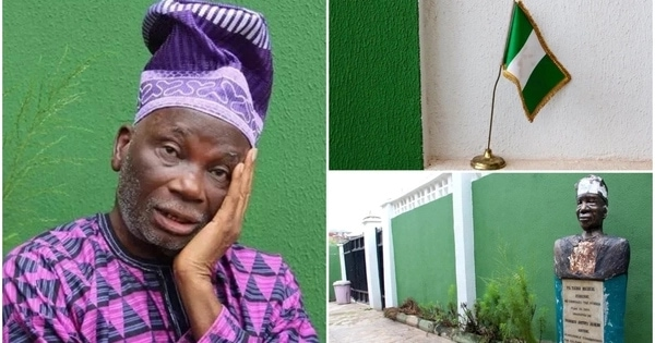 Meet Taiwo Akinkunmi who designed the Nigerian flag, he now lives like a forgotten hero in the poorest areas in Ibadan