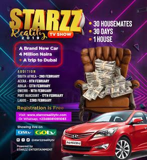 STARZZ REALITY TV SHOW 2019