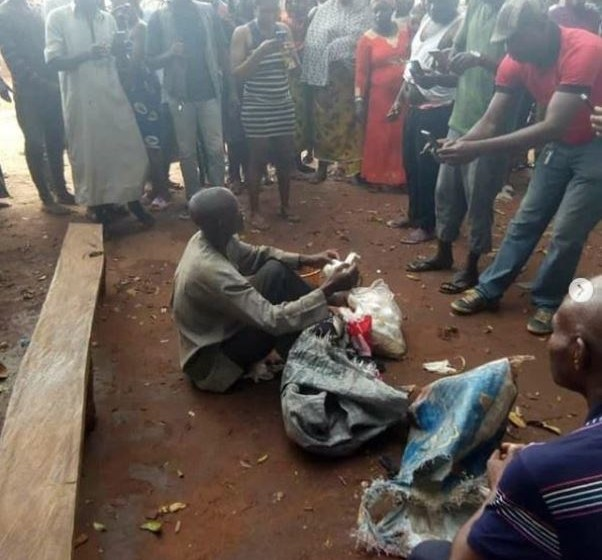 Nigerian pastor caught with bag filled with female underwear