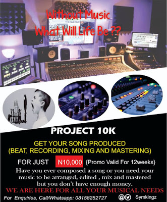 Get Your Song Produced (beat, recording, m&m) For Just 10k