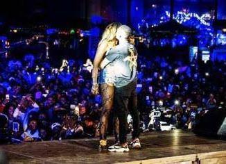 Tiwa Savage & Wizkid kiss in Paris - Wizkid Grabs her Butt [VIDEO]