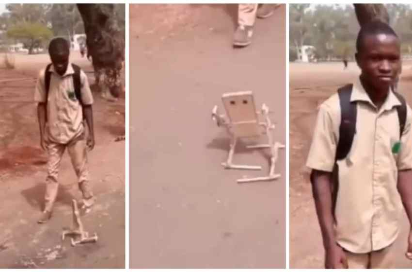 Secondary school boy create robot out of wood [VIDEO]