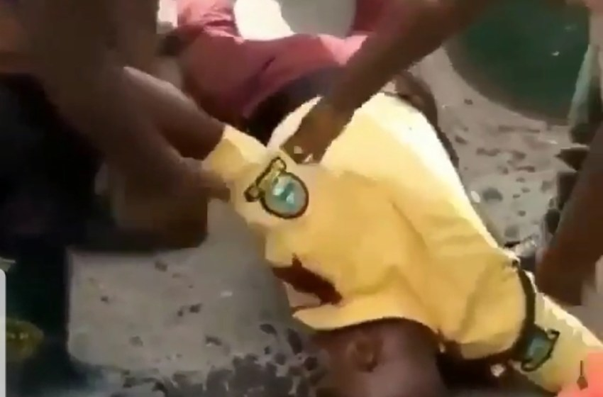 LASTMA Officer beaten to coma by a Police Man [VIDEO]