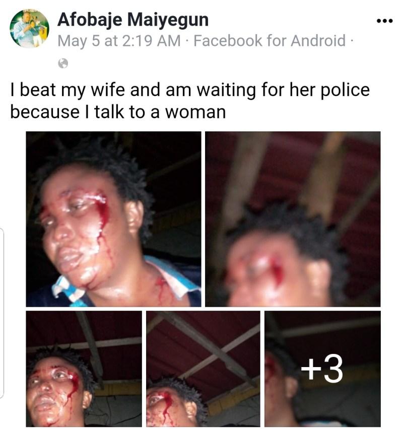Man beats wife boast about it on Facebook
