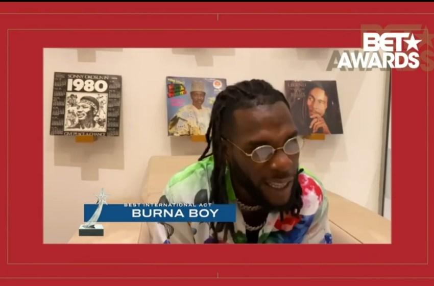 #BETAwards : Burna Boy wins best international act [VIDEO]