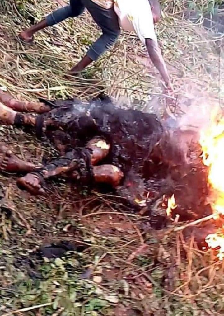 Two men burnt to death