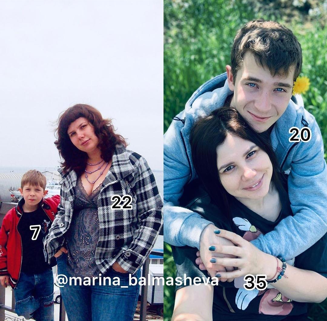 Marina Balmasheva with step son