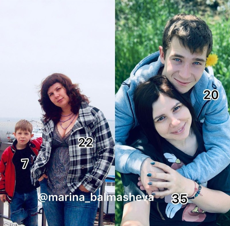 Marina Balmasheva with step son