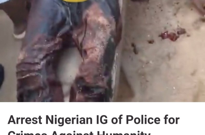 Petition to Arrest Nigerian IG of Police for Crime Against Humanity [JOIN SIGNING]