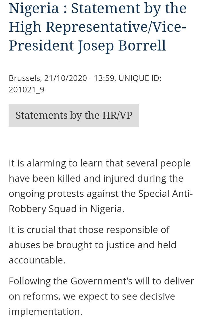 European Union Statement