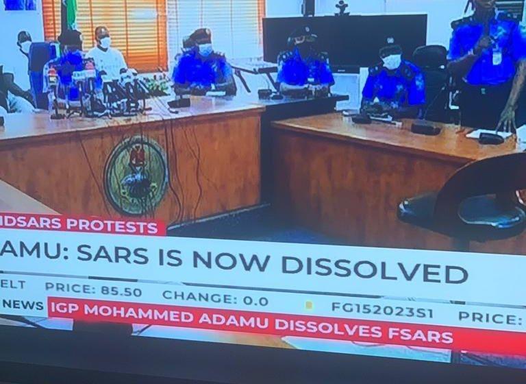 SARS dissolved