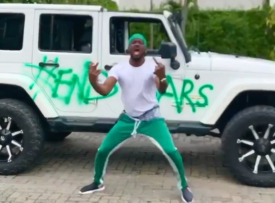 Paul Mercedes Jeep with #EndSARS
