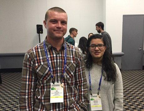Ian Sandum and Pragya Chalise