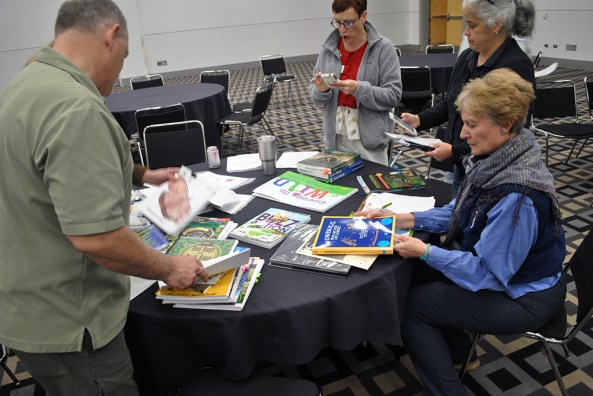 Facilitators provided a wealth of tools and resources for teachers to incorporate insects into their classrooms.